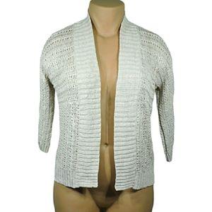Eddie Bauer cream knit Linen cardigan Large